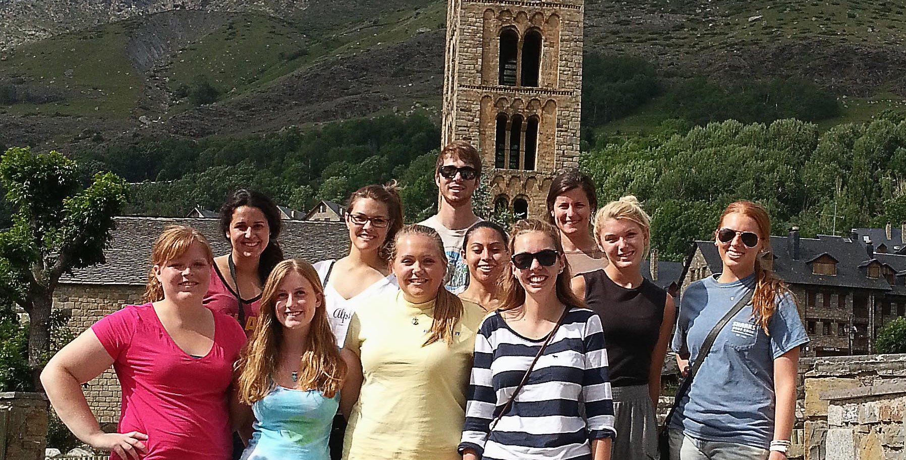 Group of study abroad students